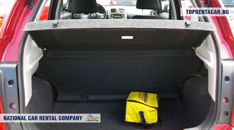 Nissan Micra - trunk view