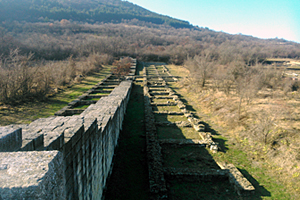 Fortress wall in Veliki Preslav