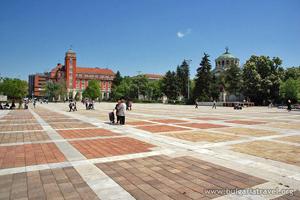 The Central square in Pleven