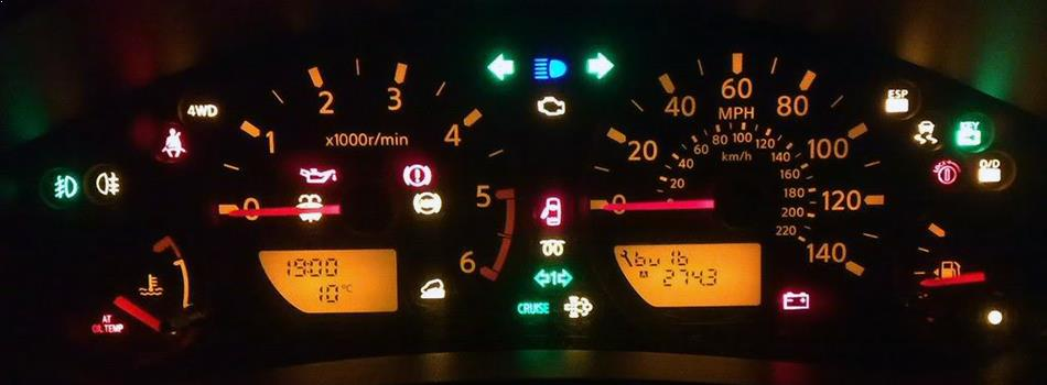 What does the dashboard warning lights mean?
