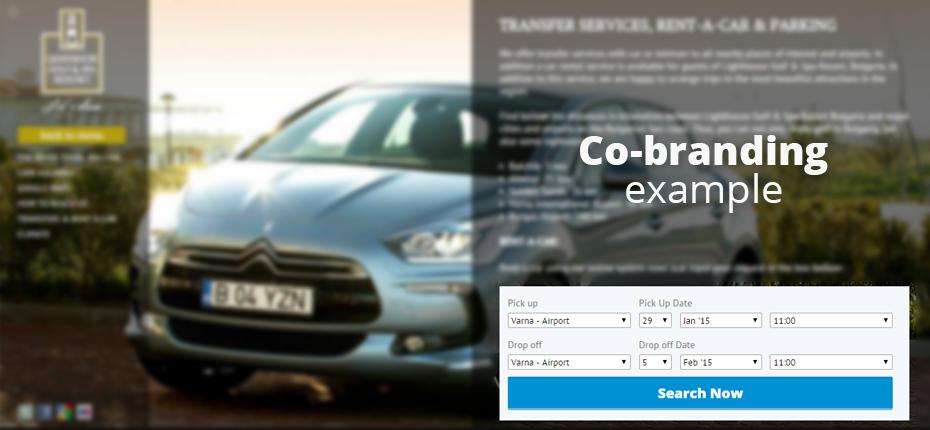 Co-branding widget implementation