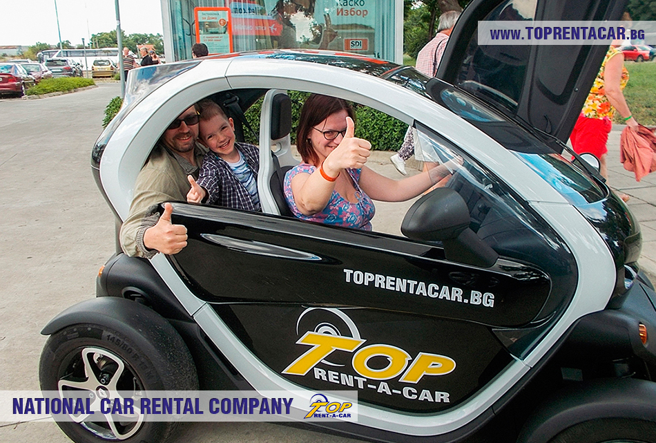 Twizy EV rental from Top Rent A Car