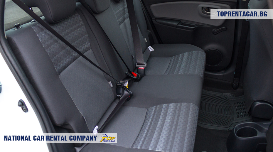 Toyota Yaris - back seats view