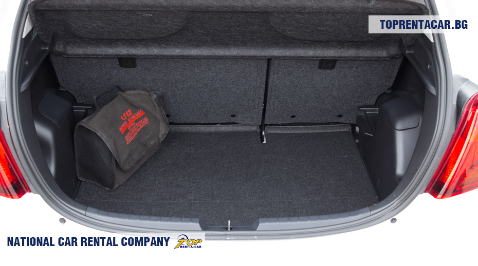 Toyota Yaris - trunk view