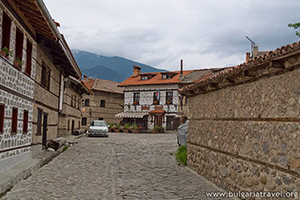 Bansko old houses and streets