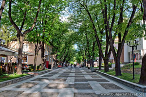 Central alley in Velingrad
