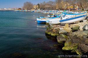 Boats in Pomorie
